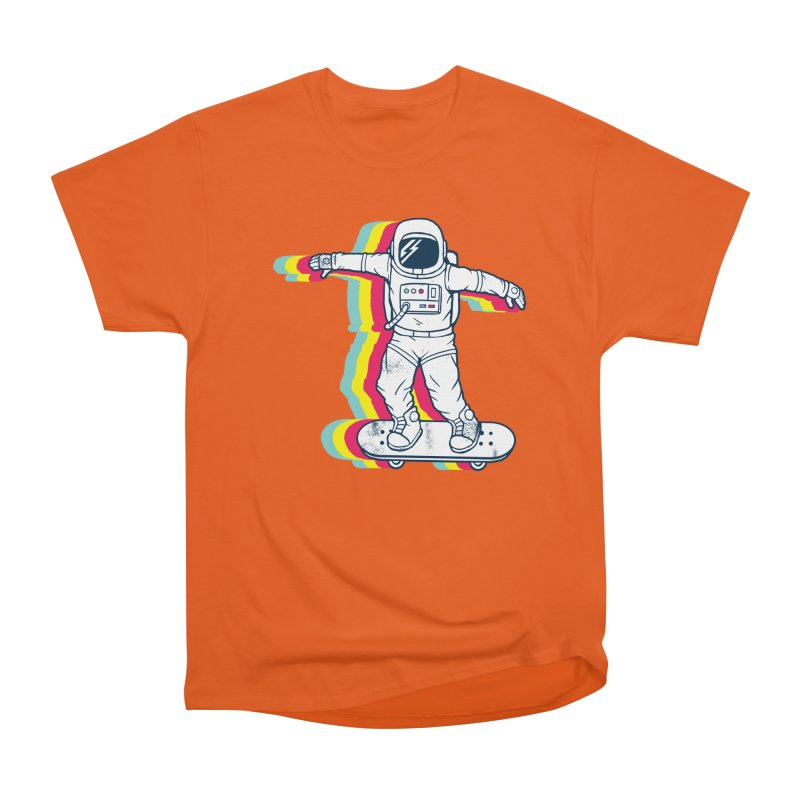 Spaceboarding Men's T-Shirt by Steven Toang