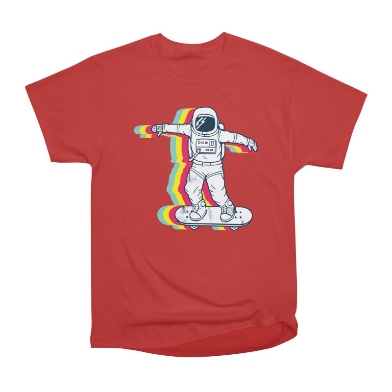 Spaceboarding Men's Heavyweight T-Shirt by Steven Toang