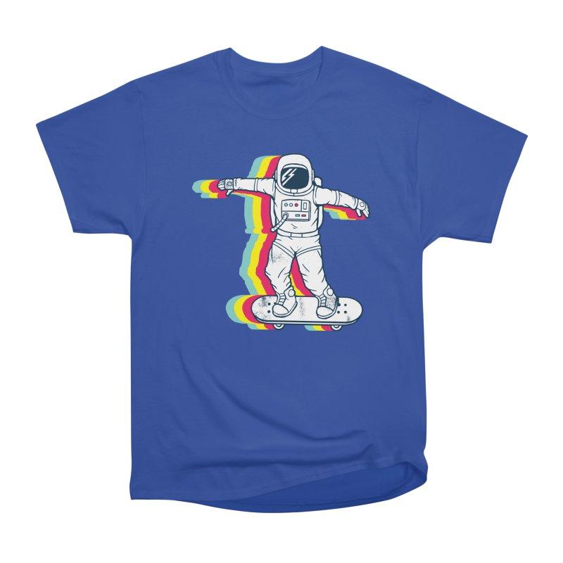 Spaceboarding Men's Heavyweight T-Shirt by Steven Toang