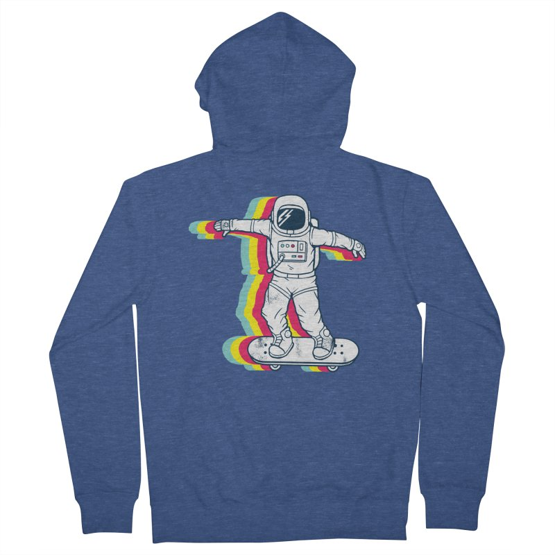 Spaceboarding Men's French Terry Zip-Up Hoody by Steven Toang
