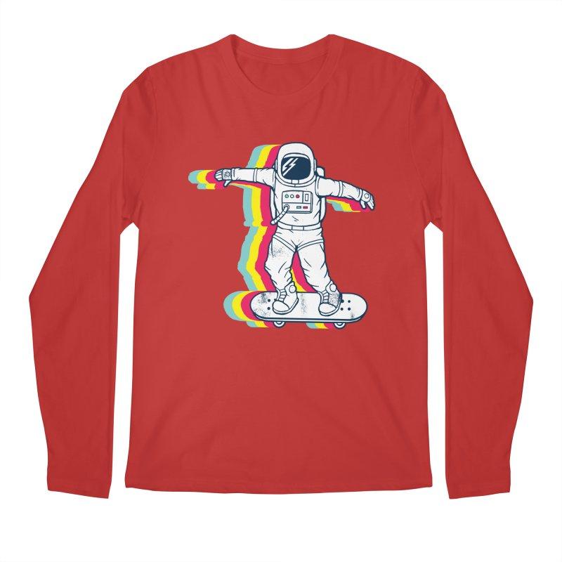 Spaceboarding Men's Regular Longsleeve T-Shirt by Steven Toang