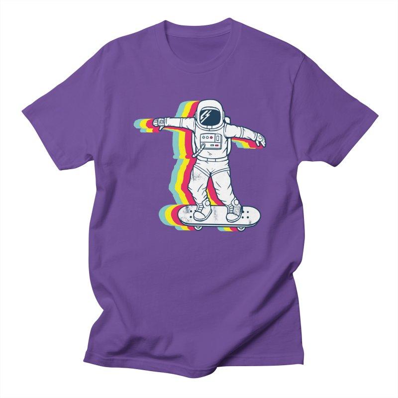 Spaceboarding Men's Regular T-Shirt by Steven Toang