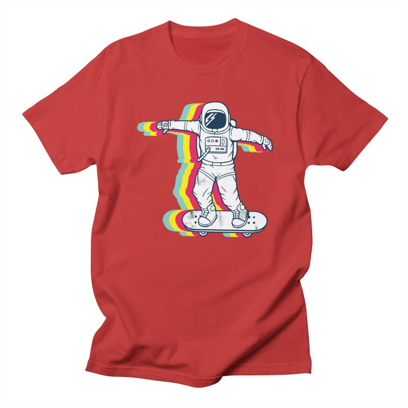 Spaceboarding Women's Regular Unisex T-Shirt by Steven Toang