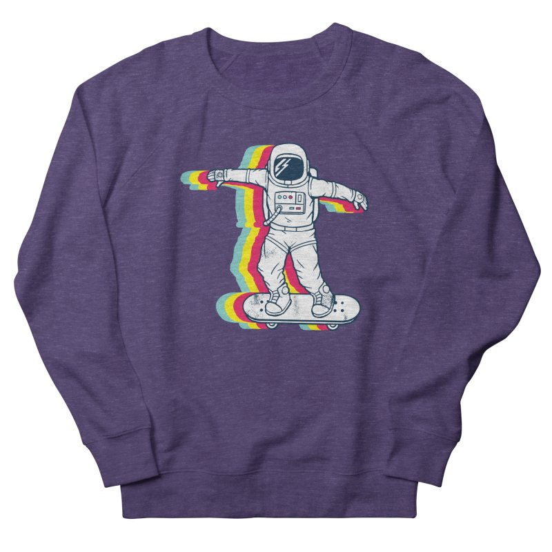 Spaceboarding Women's French Terry Sweatshirt by Steven Toang