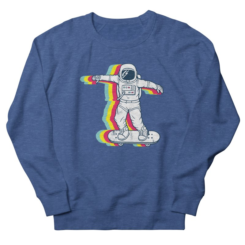 Spaceboarding Men's French Terry Sweatshirt by Steven Toang