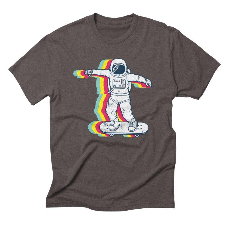 Spaceboarding Men's Triblend T-Shirt by Steven Toang