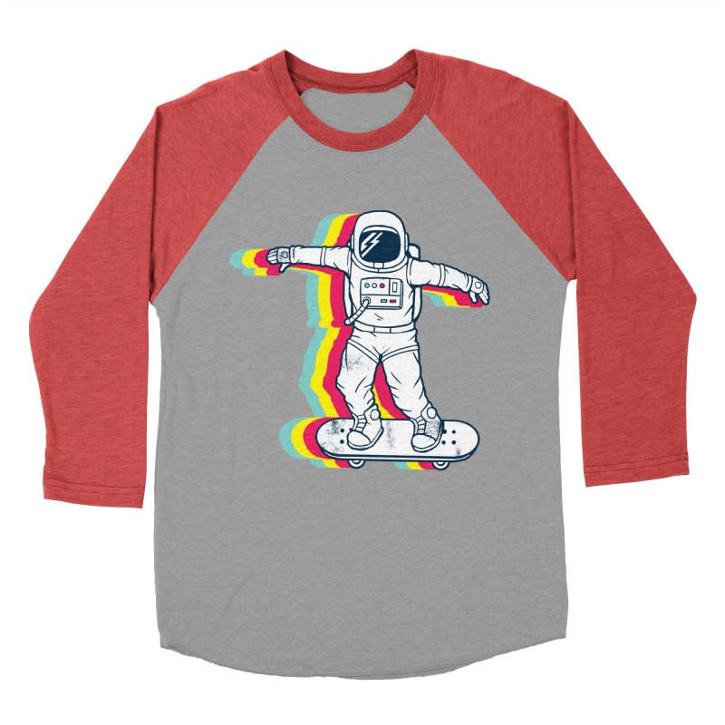 Spaceboarding Women's Baseball Triblend Longsleeve T-Shirt by Steven Toang