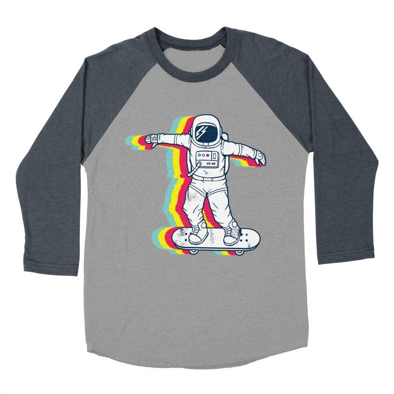 Spaceboarding Women's Baseball Triblend Longsleeve T-Shirt by Steven Toang