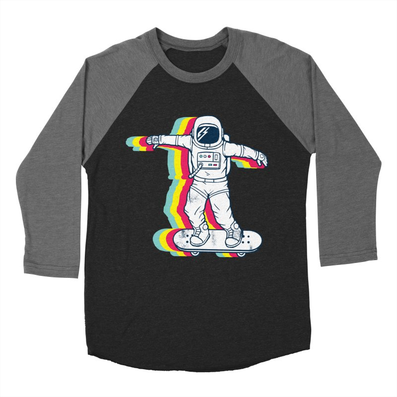 Spaceboarding Men's Baseball Triblend Longsleeve T-Shirt by Steven Toang