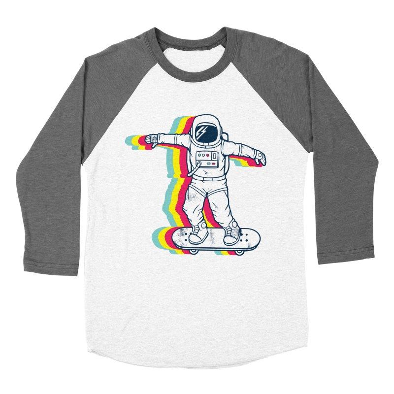 Spaceboarding Men's Baseball Triblend Longsleeve T-Shirt by Steven Toang
