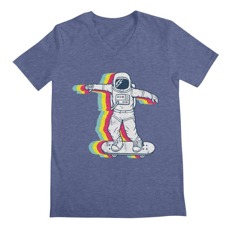 Spaceboarding Men's Regular V-Neck by Steven Toang