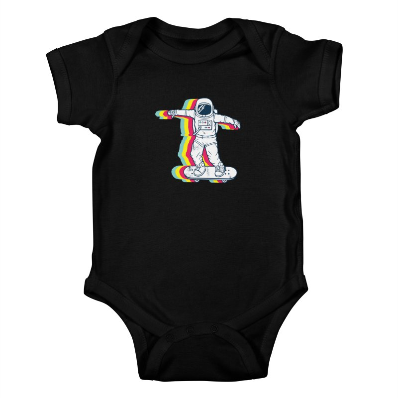 Spaceboarding Kids Baby Bodysuit by Steven Toang