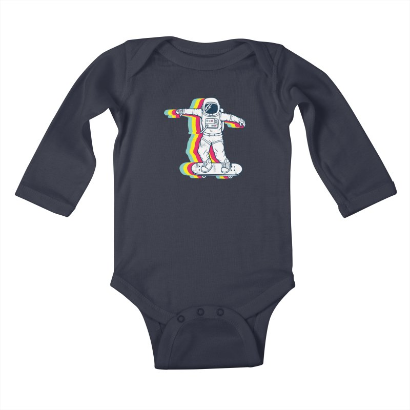 Spaceboarding Kids Baby Longsleeve Bodysuit by Steven Toang
