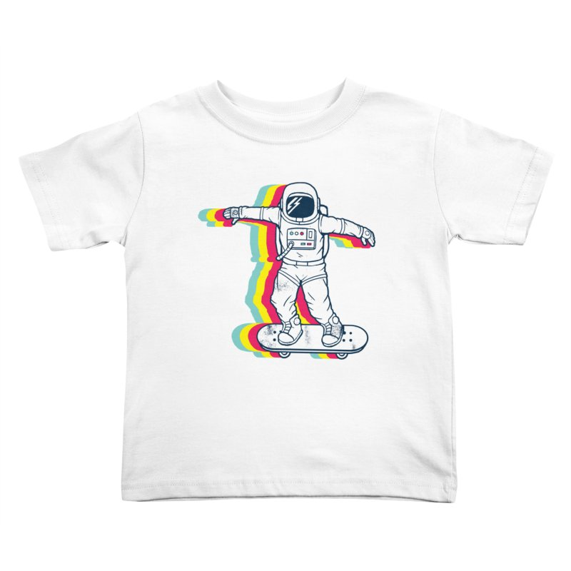 Spaceboarding Kids Toddler T-Shirt by Steven Toang