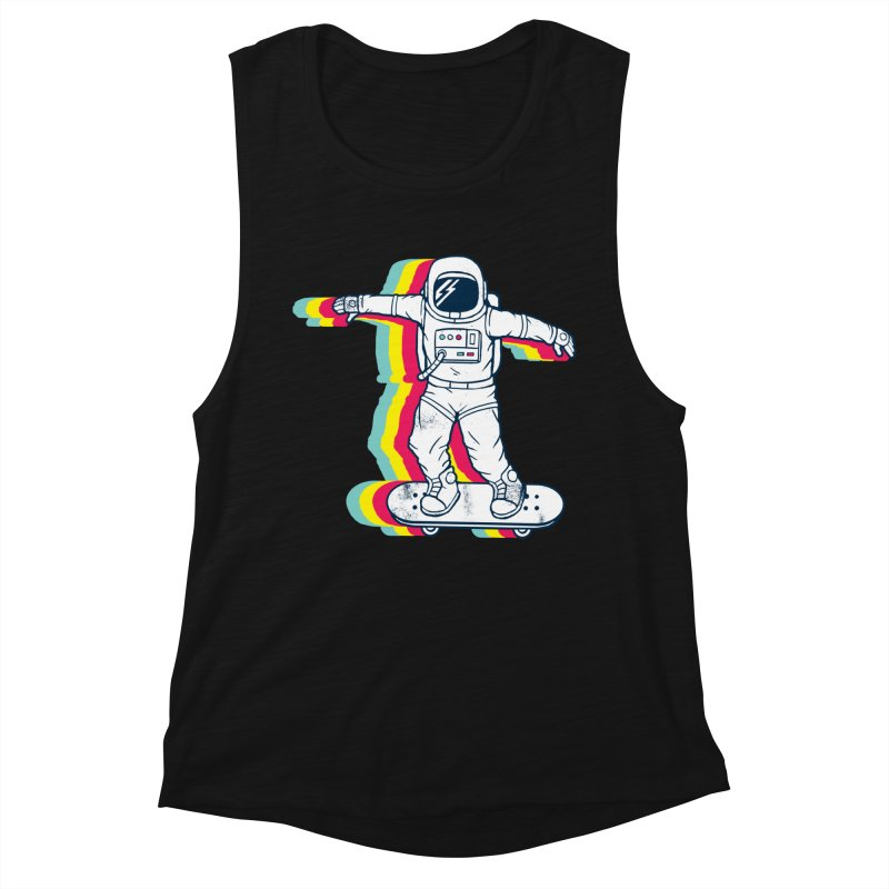 Spaceboarding Women's Muscle Tank by Steven Toang