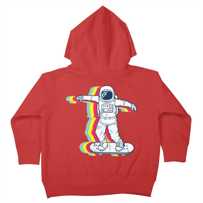 Spaceboarding Kids Toddler Zip-Up Hoody by Steven Toang