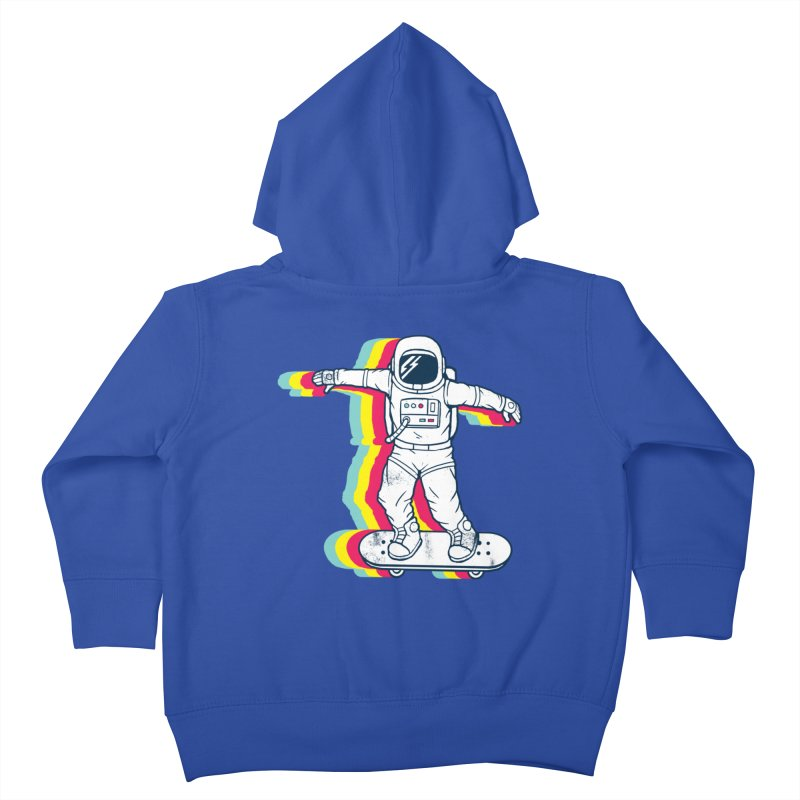 Spaceboarding Kids Toddler Zip-Up Hoody by Steven Toang