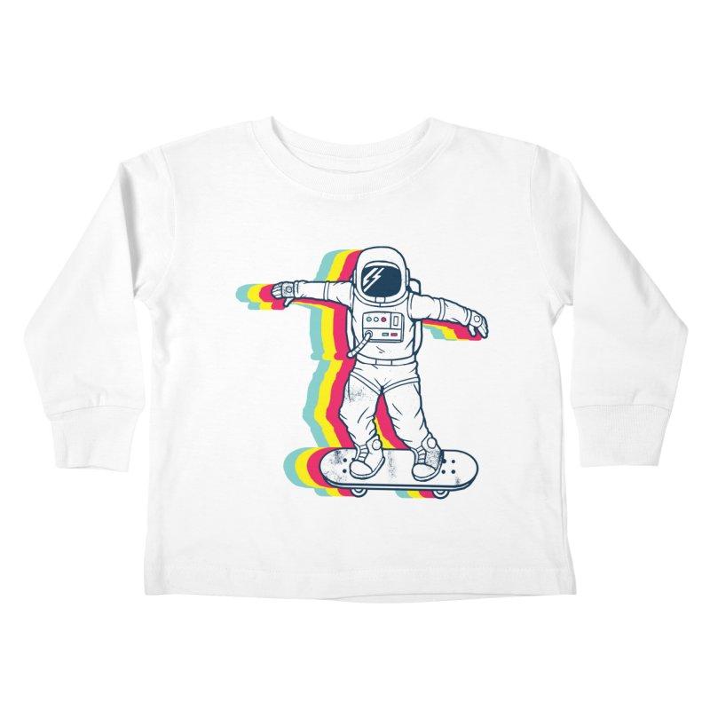 Spaceboarding Kids Toddler Longsleeve T-Shirt by Steven Toang