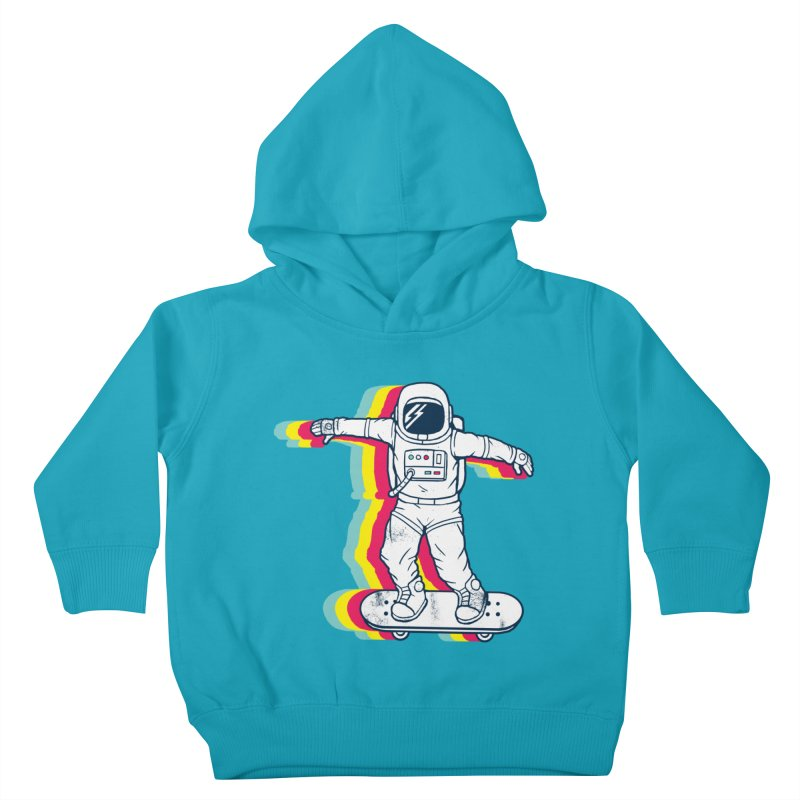 Spaceboarding Kids Toddler Pullover Hoody by Steven Toang