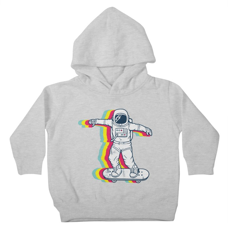 Spaceboarding Kids Toddler Pullover Hoody by Steven Toang