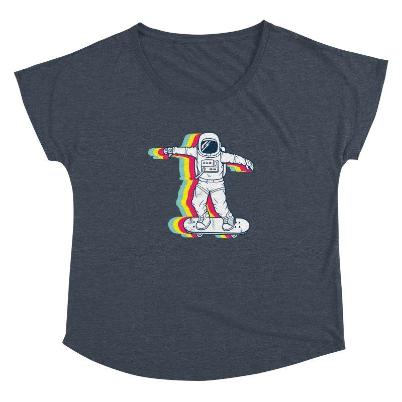 Spaceboarding Women's Scoop Neck by Steven Toang
