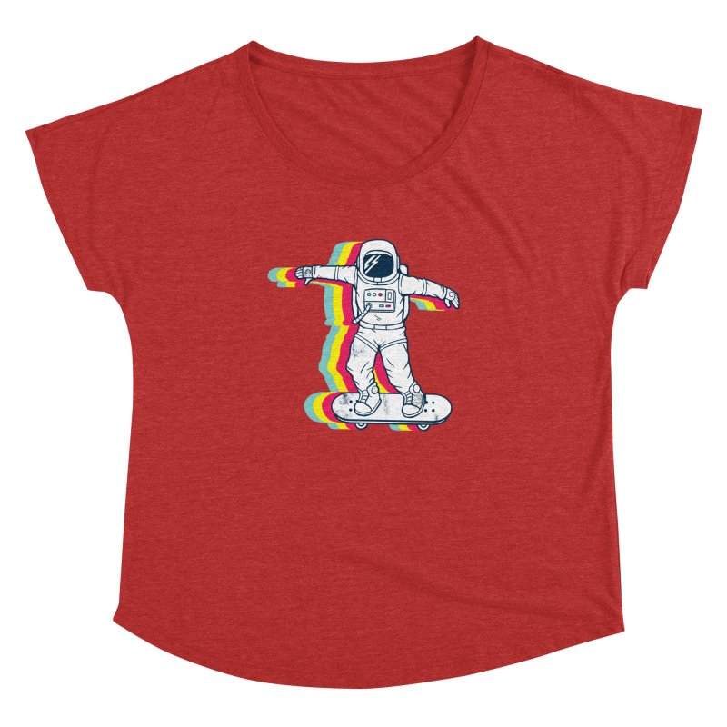 Spaceboarding Women's Dolman Scoop Neck by Steven Toang