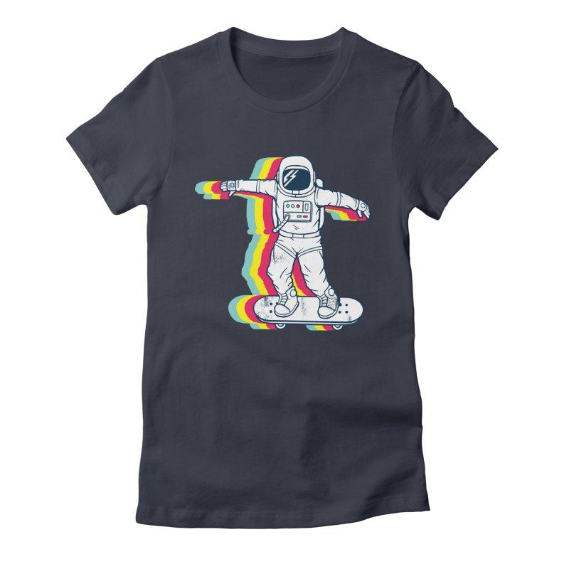 Spaceboarding Women's T-Shirt by Steven Toang