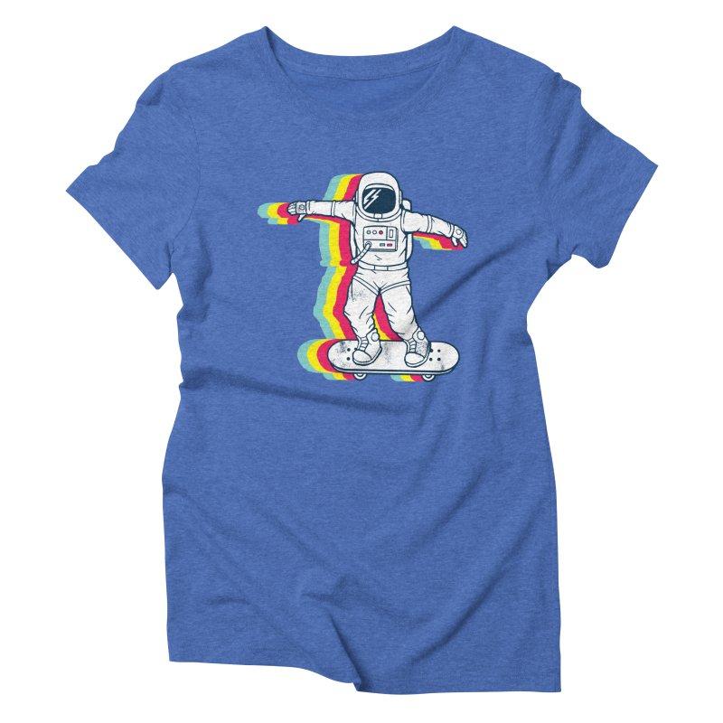 Spaceboarding Women's Triblend T-Shirt by Steven Toang