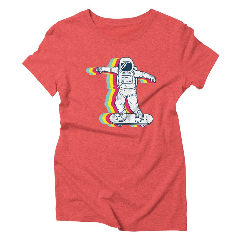 Spaceboarding Women's Triblend T-Shirt by Steven Toang