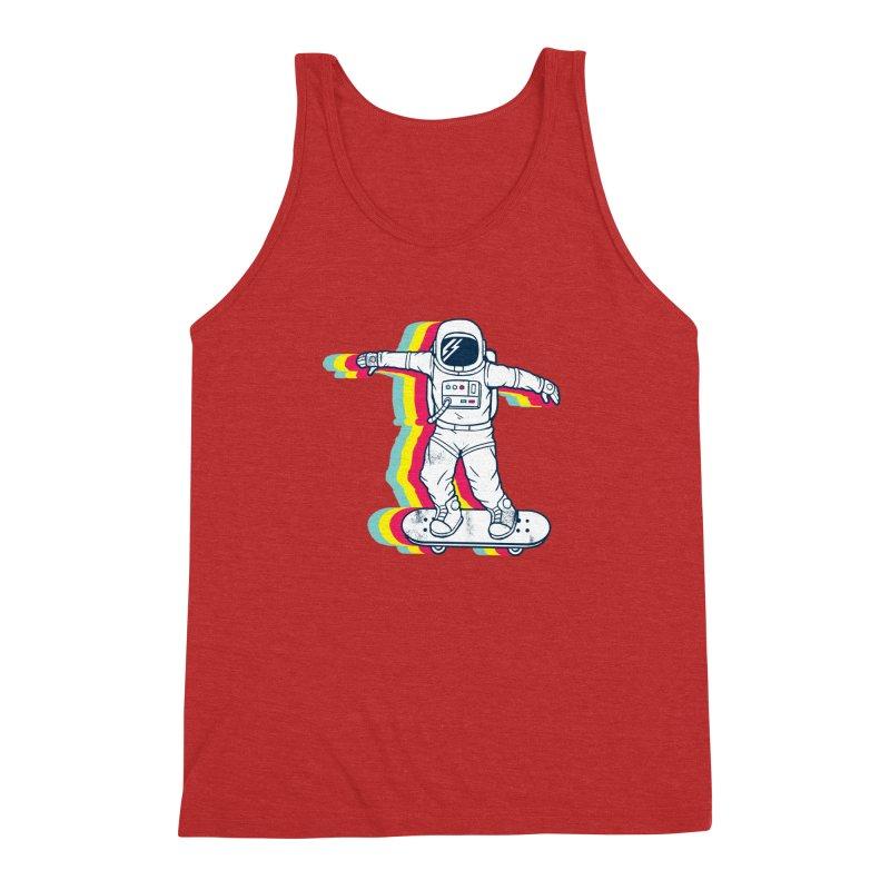 Spaceboarding Men's Triblend Tank by Steven Toang