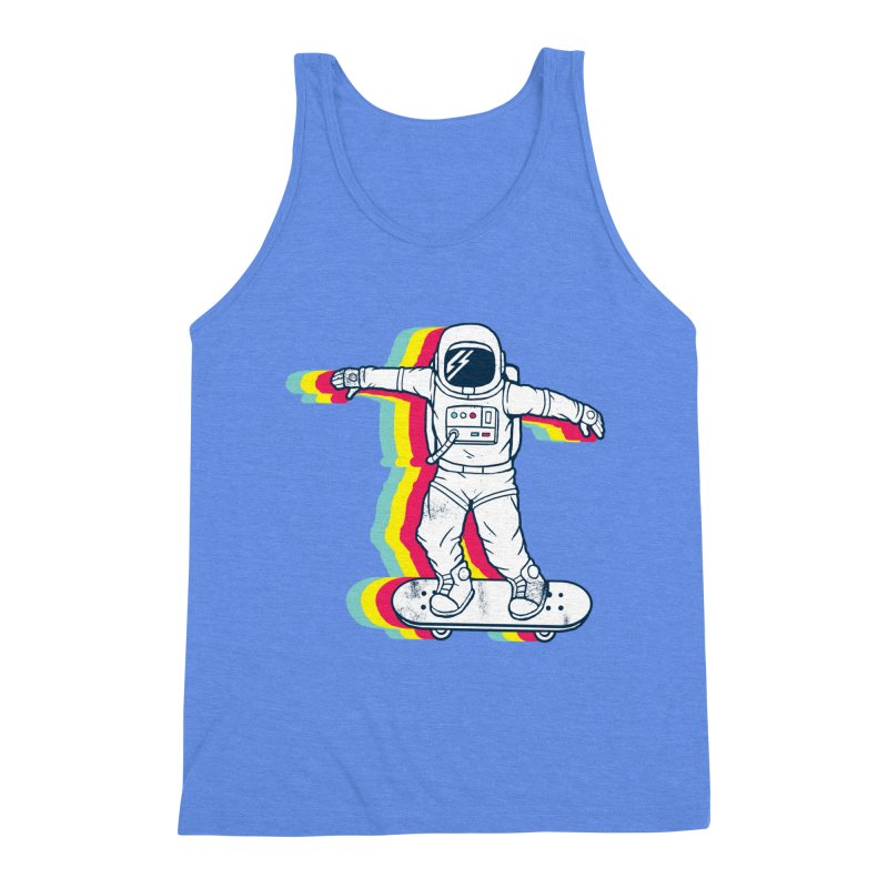 Spaceboarding Men's Triblend Tank by Steven Toang
