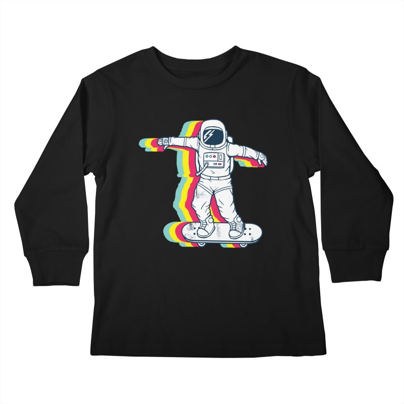 Spaceboarding Kids Longsleeve T-Shirt by Steven Toang