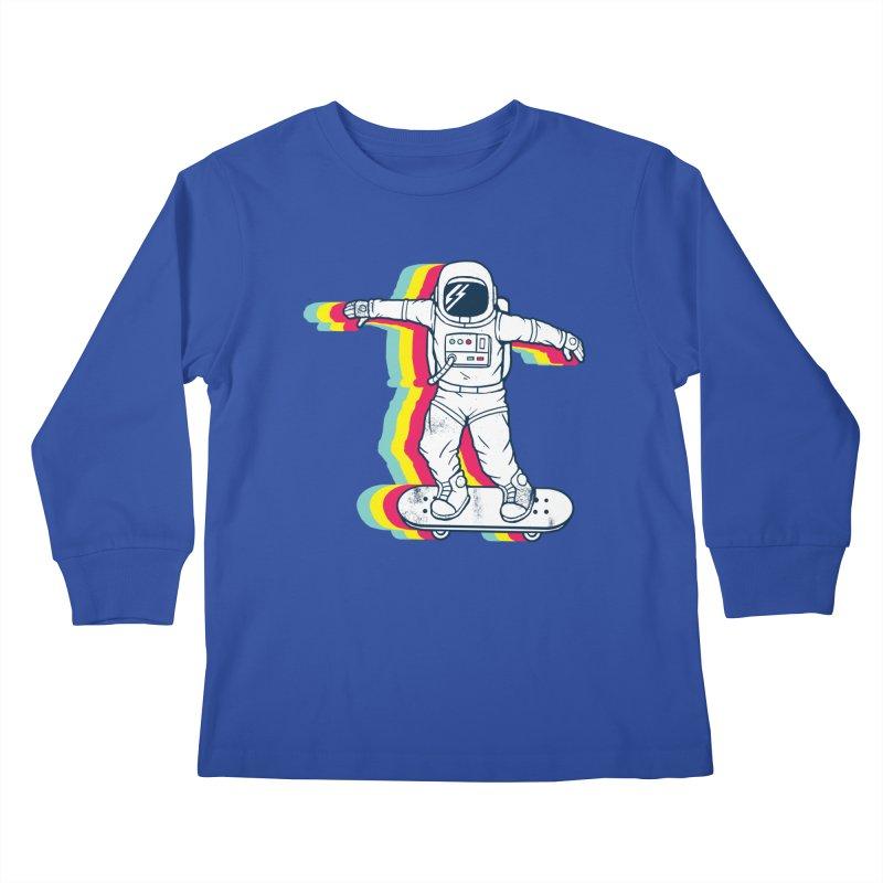 Spaceboarding Kids Longsleeve T-Shirt by Steven Toang