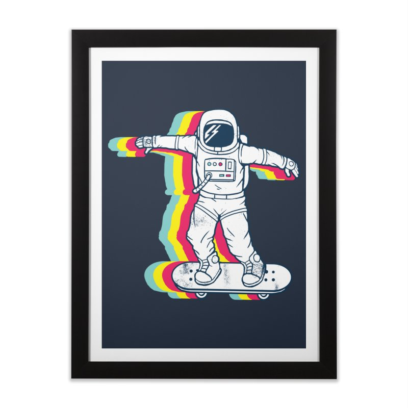 Spaceboarding Home Framed Fine Art Print by Steven Toang