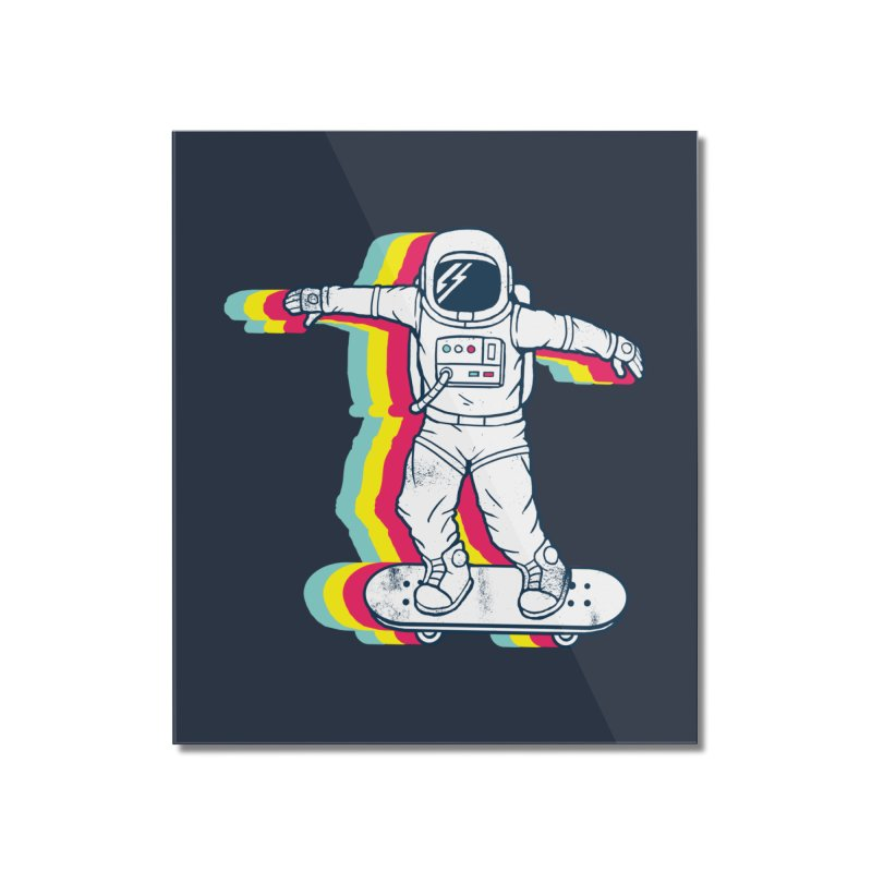Spaceboarding Home Mounted Acrylic Print by Steven Toang