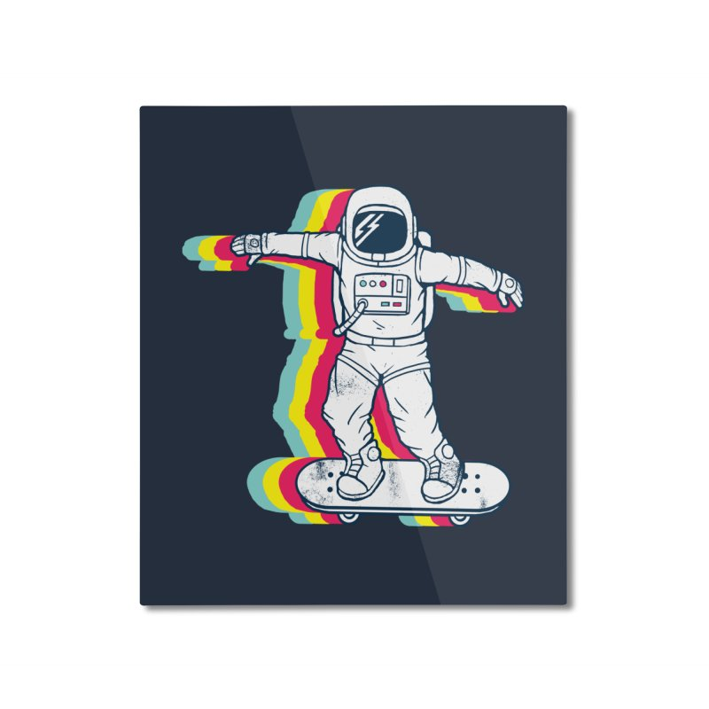 Spaceboarding Home Mounted Aluminum Print by Steven Toang