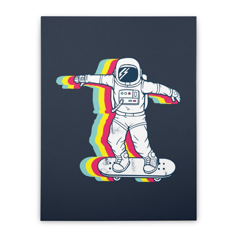 Spaceboarding Home Stretched Canvas by Steven Toang