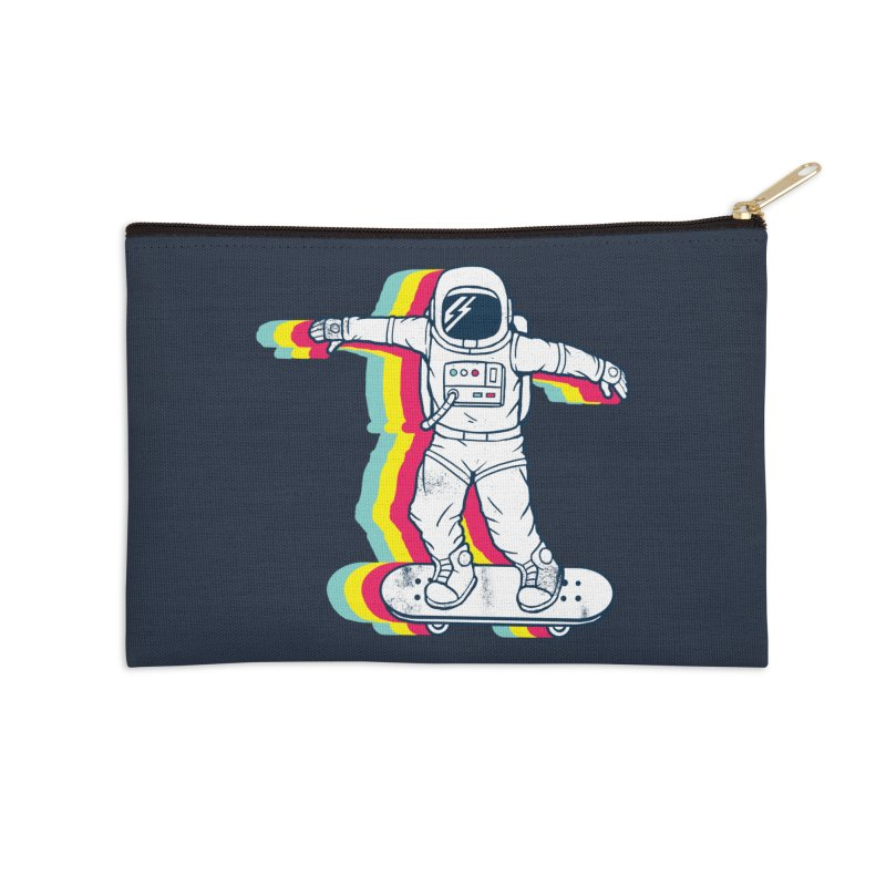 Spaceboarding Accessories Zip Pouch by Steven Toang