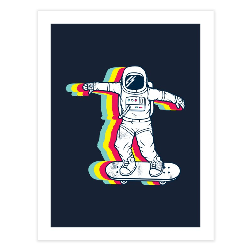 Spaceboarding Home Fine Art Print by Steven Toang