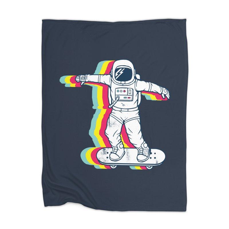 Spaceboarding Home Blanket by Steven Toang