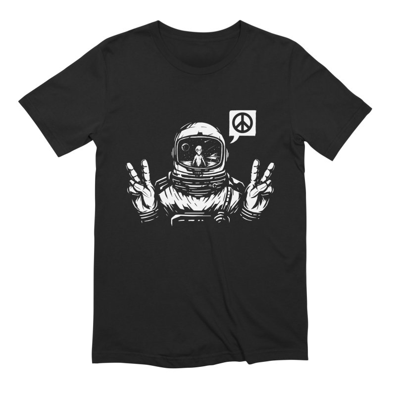 We came in peace Men's Extra Soft T-Shirt by Steven Toang