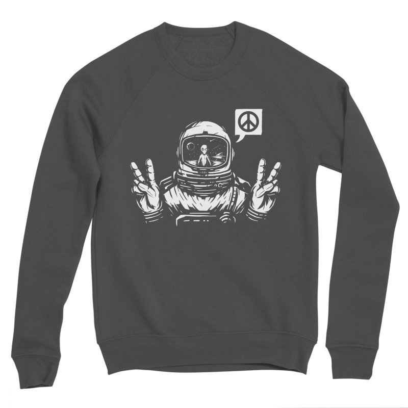 We came in peace Men's Sponge Fleece Sweatshirt by Steven Toang