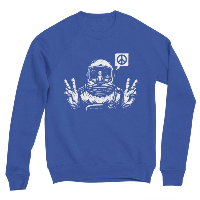 We came in peace Men's Sponge Fleece Sweatshirt by Steven Toang