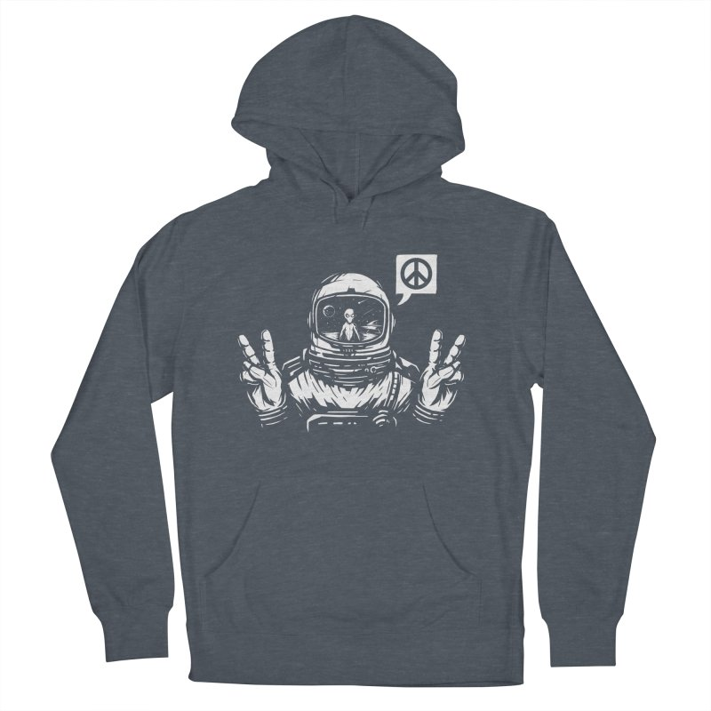 We came in peace Women's French Terry Pullover Hoody by Steven Toang