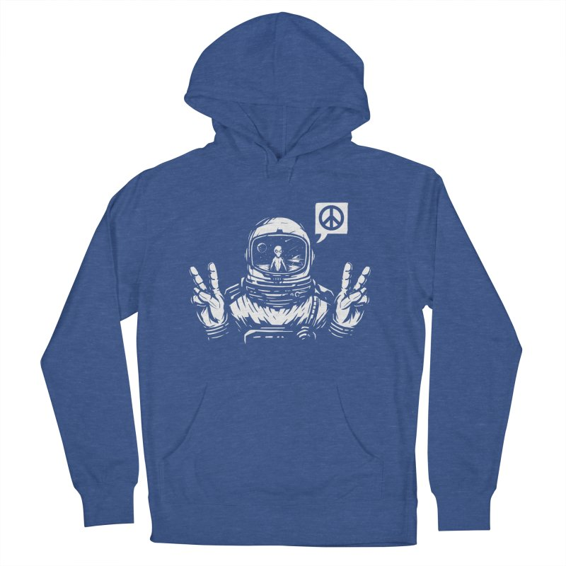 We came in peace Men's French Terry Pullover Hoody by Steven Toang