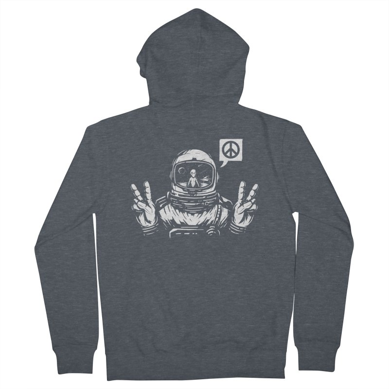 We came in peace Women's French Terry Zip-Up Hoody by Steven Toang