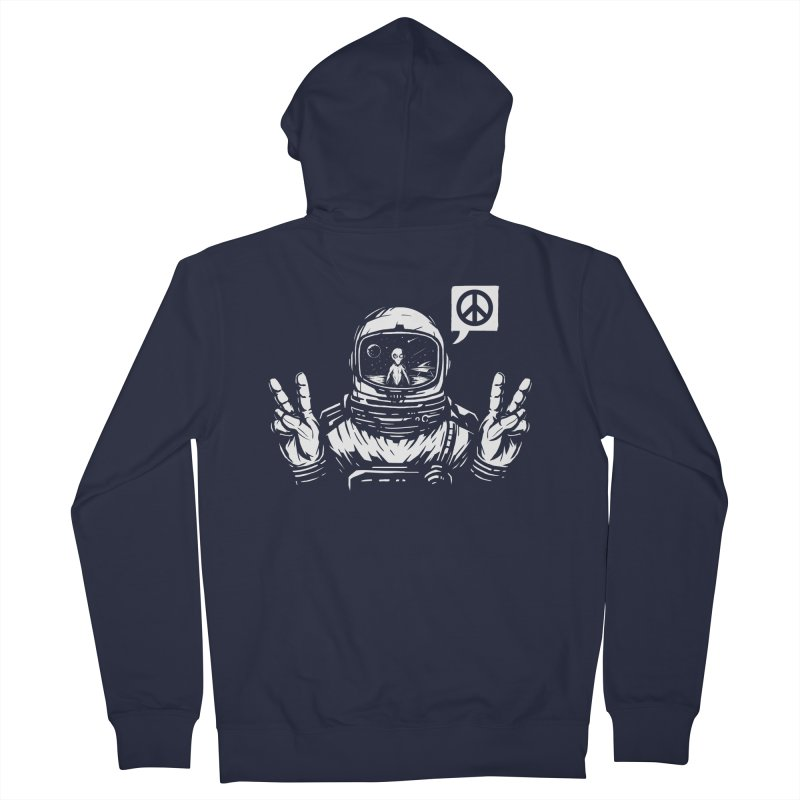 We came in peace Men's French Terry Zip-Up Hoody by Steven Toang
