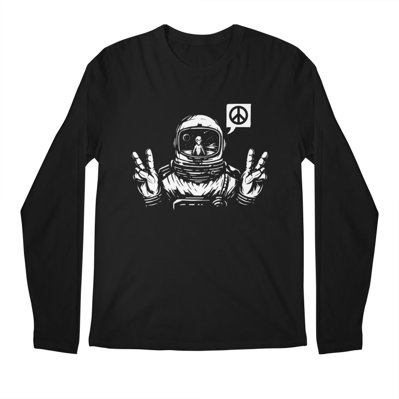 We came in peace Men's Regular Longsleeve T-Shirt by Steven Toang