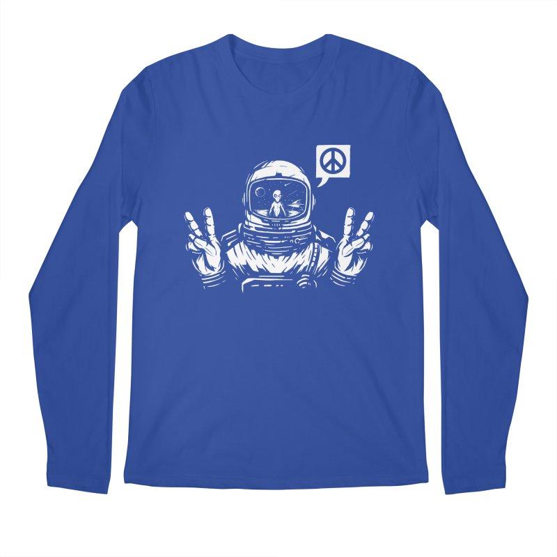 We came in peace Men's Regular Longsleeve T-Shirt by Steven Toang