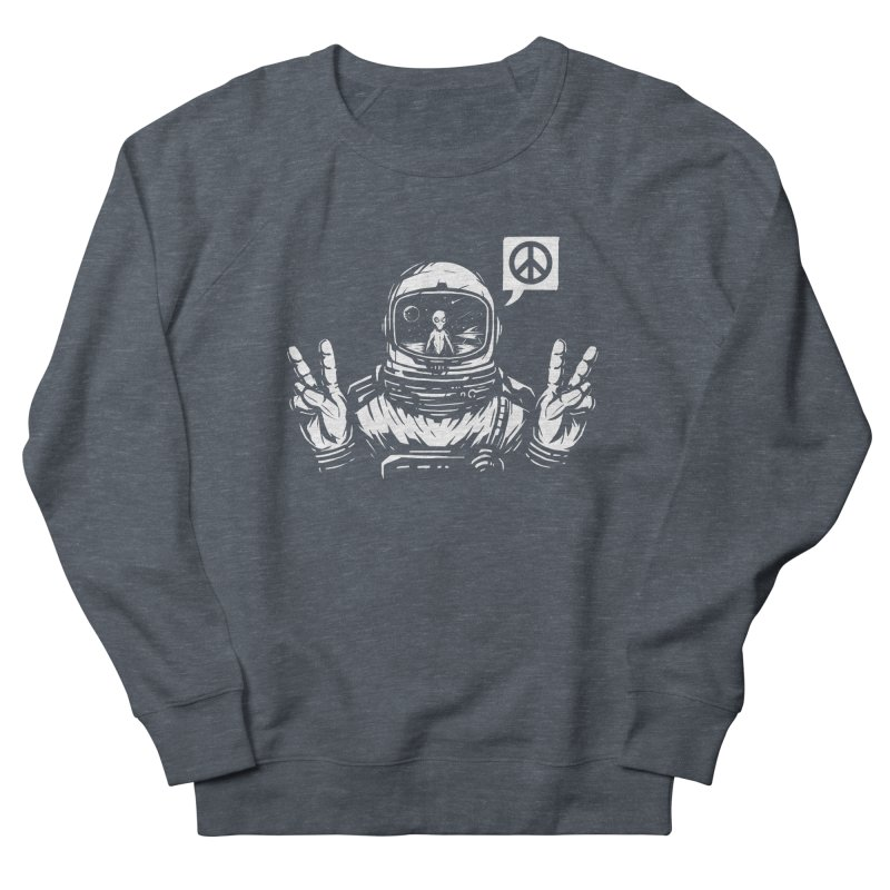We came in peace Women's French Terry Sweatshirt by Steven Toang